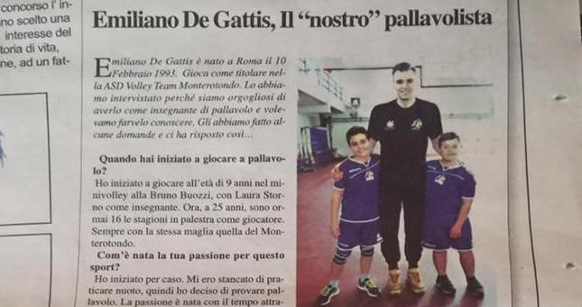 Giornalisti in erba. Tiziano e Riccardo intervistano Emiliano De Gattis
